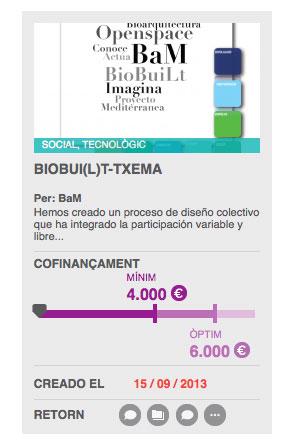 Co-finançament BioBui(L)t-Txema